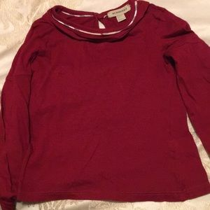 Burberry red long sleeve blouse for little girl